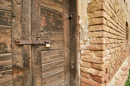lock block: Vintage door.