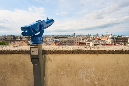 View point on Gric in city Zagreb. Photo taken in city Zagreb in Croatia on May 21, 2017.