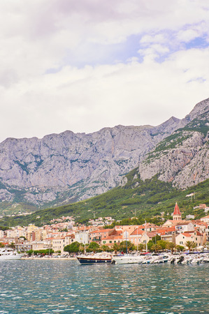 Port in Makarska.