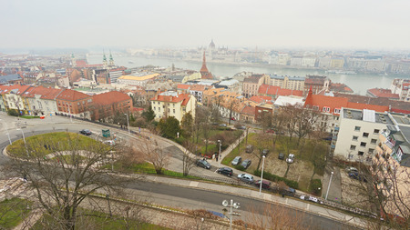 Panorama of city Budapest in Hungary. 版權商用圖片