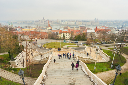 Panorama of city Budapest in Hungary. 新聞圖片