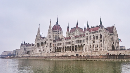 Hungarian Parliament building in city Budapest in Hungary.
