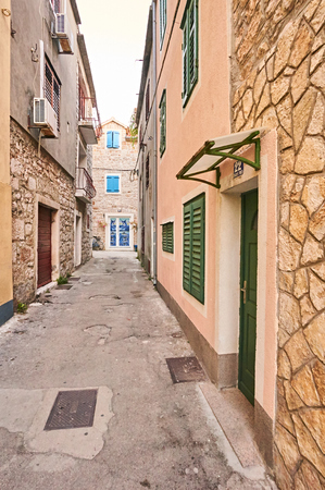 Street in city Vodice.
