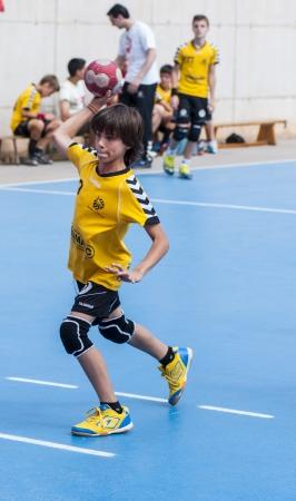 penal: Boy shooting a penal Editorial