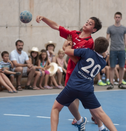 Granollers CUP Handball boy shooting Redakční