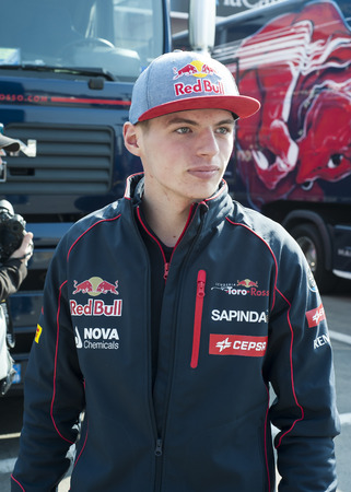 formula one: Driver Max Verstappen Formula One Test Days of 2015 pre-season at Circuit de Barcelona-Catalunya. Montmelo, Spain.