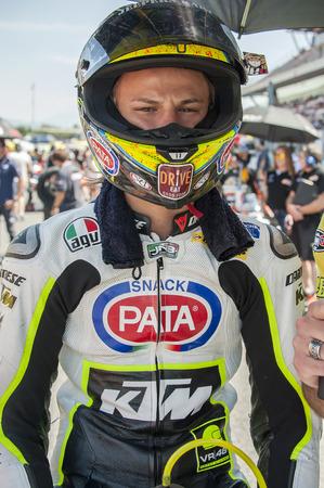 cev: Rider Nicolo Bulega during FIM CEV Repsol European Championship that celebrates on June 2021 2015 at Circuit de Barcelona Catalunya in Barcelona Spain