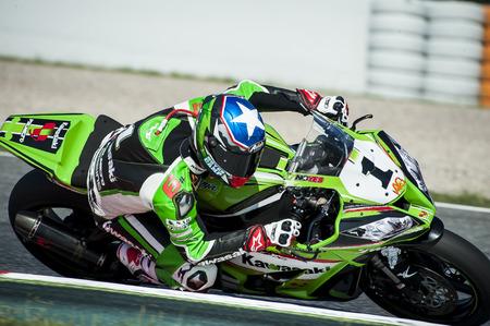 cev: Rider Kenny Noyes during FIM CEV Repsol European Championship that celebrates on June 2021 2015 at Circuit de Barcelona Catalunya in Barcelona Spain