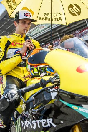 cev: Rider Luca Marini during FIM CEV Repsol European Championship that celebrates on June 2021 2015 at Circuit de Barcelona Catalunya in Barcelona Spain