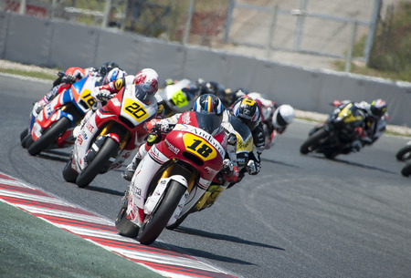 cev: Riders during FIM CEV Repsol European Championship that celebrates on June 2021 2015 at Circuit de Barcelona Catalunya in Barcelona Spain