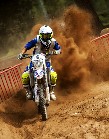 showoff: Team AutoescolaGranollers MRW during 24 hours endurance race of Motocross at Barcelona, Catalunya, Spain on 5 and 6 September 2015. Editorial