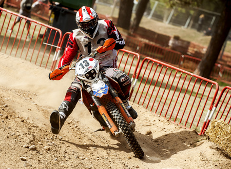showoff: Team MobilParc during 24 hours endurance race of Motocross at Barcelona, Catalunya, Spain on 5 and 6 September 2015. Editorial