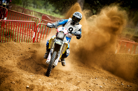 showoff: Team MMR France during 24 hours endurance race of Motocross at Barcelona, Catalunya, Spain on 5 and 6 September 2015.