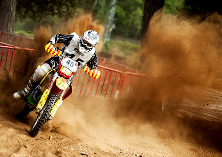 showoff: Team Reimpones Competicio during 24 hours endurance race of Motocross at Barcelona, Catalunya, Spain on 5 and 6 September 2015. Editorial