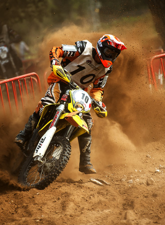 showoff: Team Normandie Endurance during 24 hours endurance race of Motocross at Barcelona, Catalunya, Spain on 5 and 6 September 2015.