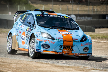 ralli: Bryntesson at FIA WORLD CHAMPIONSHIP RALLYCROSS That celebrates Barcelona at Circuit de Catalunya on 19-20 September 2015 in Barcelona, Spain.