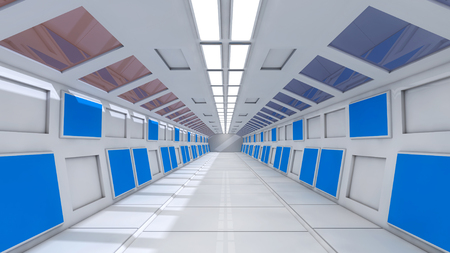 futuristic interior: FUTURISTIC INTERIOR Stock Photo