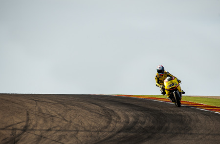 Alex Rins at Movistar GP of Aragon MotoGP at Motorland Aragon Circuit on September 27, 2015 in Alcaiz, Aragon, Spain.