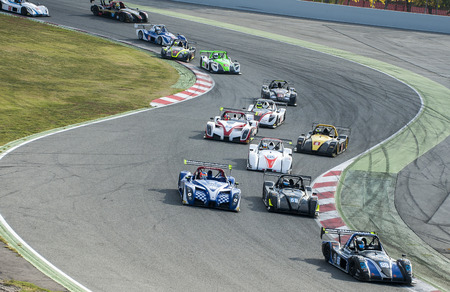 radical: Radical European Masters at International GT Open race celebrates That at Circuit de Catalunya on November January 2015 in Barcelona, Spain.