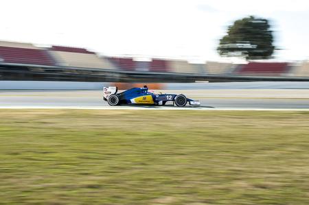 BARCELONA, SPAIN - FEBRUARY 25, 2016: Felipe Nasr of Sauber Formula One Test Days During 2016 at Circuit de Barcelona-Catalunya