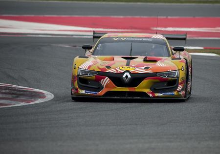 BARCELONE, ESPAGNE - 19 mars 2016: AB Sport Auto V de V en Endurance Series sur le circuit de Barcelone-Catalunya à Barcelone, Espagne