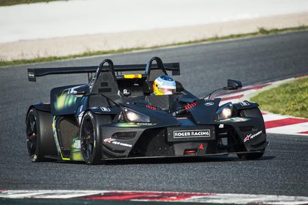 motorcars: BARCELONA, SPAIN - APRIL 3, 2016: Roger Racing Team at CEC and CER Championship at Circuit de Catalunya Barcelona, ??in Barcelona, ??Spain.
