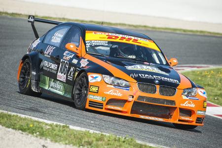 motorcars: BARCELONA, SPAIN - APRIL 3, 2016: Werd Racing Team at CEC and CER Championship at Circuit de Catalunya Barcelona, ??in Barcelona, ??Spain. Editorial
