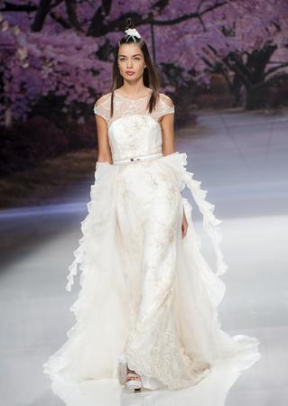 BARCELONA, SPAIN - APRIL 27, 2016: Inmaculada Garcia catwalk during Barcelona Bridal Fashion Week 2016.
