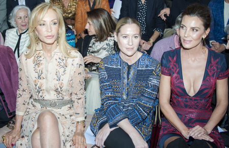 bouffant: BARCELONA, SPAIN - APRIL 27, 2016: Celebrities during Naeem Khan catwalk during Barcelona Bridal Fashion Week 2016. Editorial