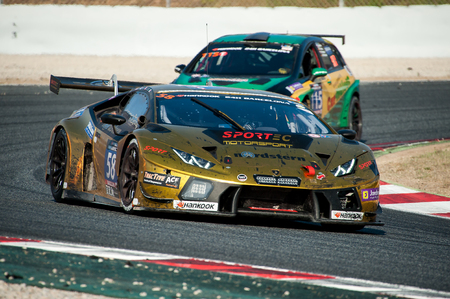 motorsport: BARCELONA, SPAIN  SEPTEMBER 4, 2016: Team Sportec Motorsport at 24 hours Endurance Series at Circuit of Barcelona-Catalunya
