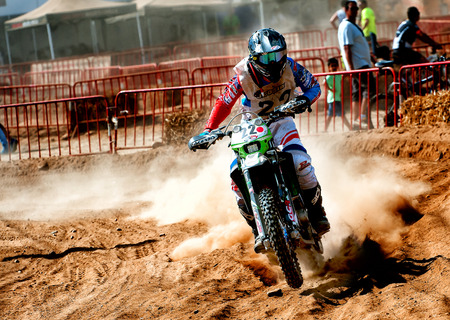 Barcelona, Spain - September 4, 2016: Motocross 24 Hours Endurance Race of la Vall del Tenes. Editorial