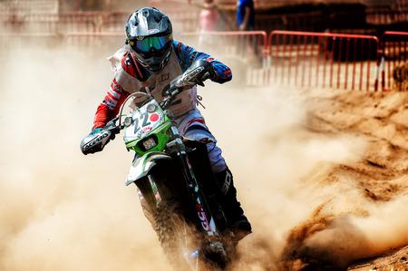 powerfull: Barcelona, Spain - September 4, 2016: Motocross 24 Hours Endurance Race of la Vall del Tenes. Editorial