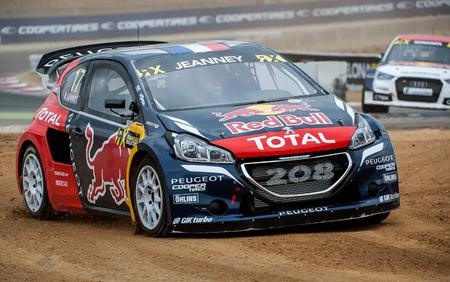 BARCELONA, SPAIN - SEPTEMBER 17, 2016: Jeanney at FIA World Rallycross Championship at Circuit de Barcelona-Catalunya.