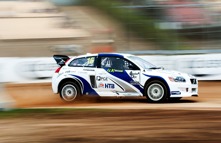 BARCELONA, SPAIN - SEPTEMBER 17, 2016: FIA World Rallycross Championship at Circuit de Barcelona-Catalunya.