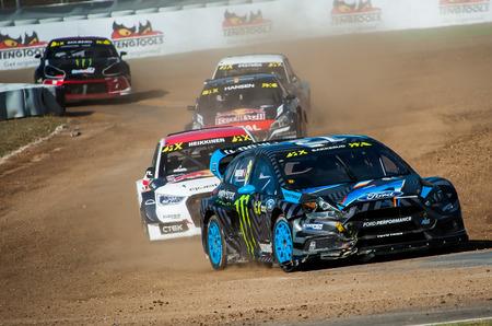 fia: Barcelona, Spain - September 19, 2016: FIA World Rallycros of Barcelona at Circuit de Barcelona Catalunya.
