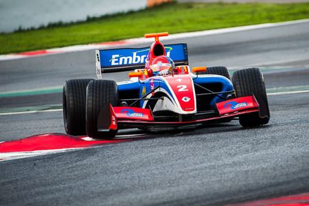 Barcelona, Spain November 5, 2016: Pietro Fitipaldi of Formula V8 3.5 during International GT Open at Circuit of Barcelona Catalonia.