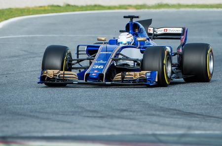 BARCELONA, SPAIN  FEBRUARY 28, 2017: Giovinazziat Formula One Test Days at Circuit of Barcelona Catalunya