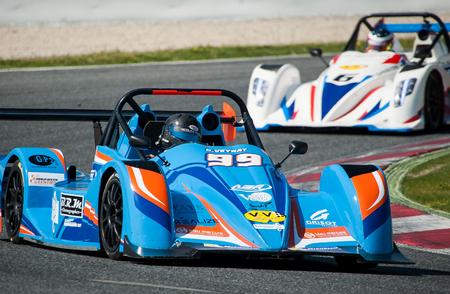 motorcars: AGR Bleu Mercure Racing Team at V de V Endurance Series that celebrates at Circuit de Barcelona Catalunya on March 17-19 of 2017 in Barcelona, Spain.