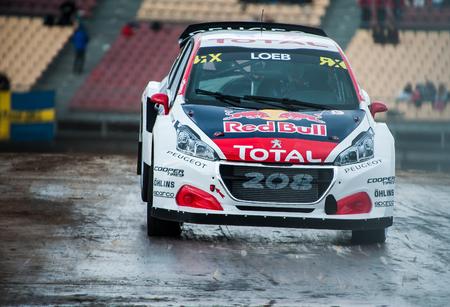 Barcelona, Spain - April 1, 2017: Sebastien Loeb during FIA World Rallycross that celebrates at Circuit of Barcelona Catalunya.