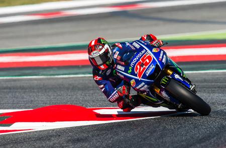 BARCELONA, ESPAÑA 10 DE JUNIO DE 2017: Maverick Viales durante GP Monster Energy de Catalunya de MotoGP en el Circuito de Barcelona-Catalunya.