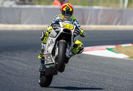 BARCELONA, SPAIN  JUNE 10, 2017: Alvaro Bautista during GP Monster Energy of Catalunya of MotoGP at Circuit of Barcelona-Catalunya. Editorial