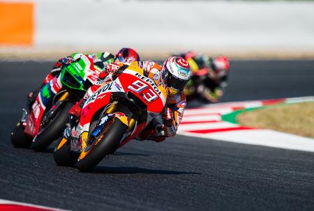 BARCELONA, SPAIN  JUNE 11, 2017: Marc Marquez during GP Monster Energy of Catalunya of MotoGP at Circuit of Barcelona-Catalunya.
