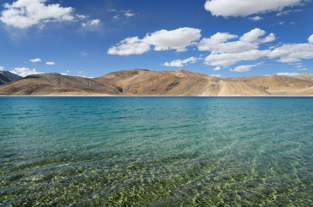 ridge of wave: Pure mountain lake with transparent water