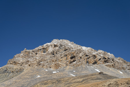 jagged: Jagged mountain with snow Stock Photo