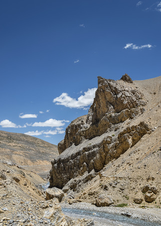River in mountains of Ladakh photo