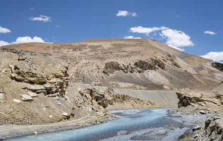 River flow in Ladakh mountain photo