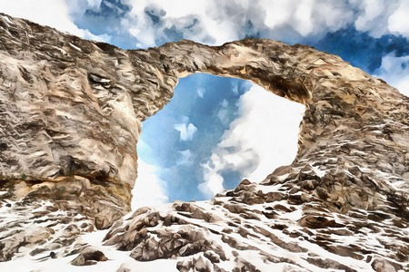 erosion: LAiguille Percee - Perseus Ring rock formation