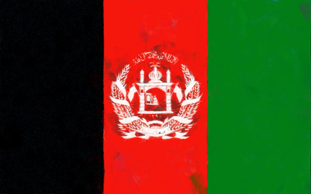 afghanistan: Afghanistan flag painting Stock Photo