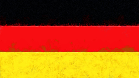 germany flag: Germany flag painting