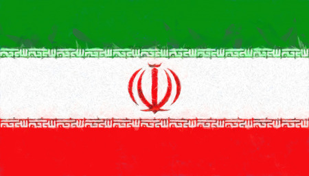 iran: Iran flag painting